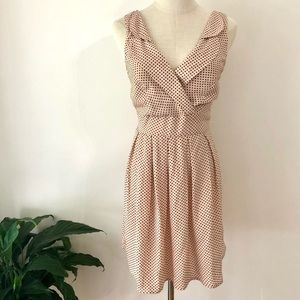 Vintage or Retro inspired SUNNYGIRL dress, Fawn colour orange spots, Size 10